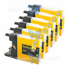 6 YELLOW LC71 LC75 NON-OEM Ink for BROTHER MFC-J430W LC-71 LC-75 LC71Y LC75Y
