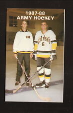 Army Cadets--1987-88 Hockey Pocket Schedule--West Point FCU