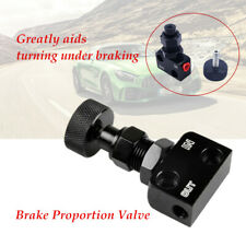 Adjustable Black 1/8NPT Brake Proportion Valve Knob Style Suit Disc Drum Brake