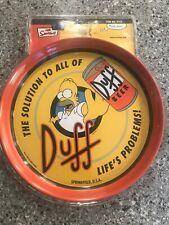 *****Homer Simpson Duff Beer Tray New Sealed in Original Plastic Packaging!*****