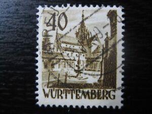 WURTTEMBERG FRENCH OCCUPATION ZONE Mi. #35 scarce used stamp! CV $60.00