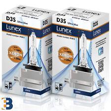 2 x D3S LUNEX XENON BULB PK32d-5 Original 35W Ultra Blue 6000K Twin Box
