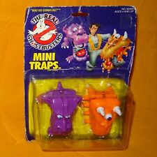 VINTAGE 1986 KENNER THE REAL GHOSTBUSTERS MINI TRAPS GHOST FIGURES MOC LIFTED