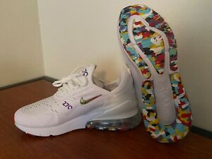 Women's Nike Air Max 270 White Multicolor Shoes Athleisure