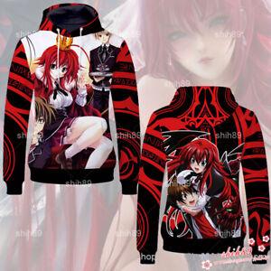 Anime High School DxD Rias Gremory Hoodie Sweatshirt Jacket Coat Cosplay #8K66