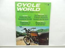 May 1971 Cycle World Magazine Honda 500 Four Husqvarna 125 MX Suzuki L8054