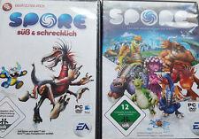 Spore PC Spiel in DVD Hülle mit Handbuch usw. kpl. deutsch und ADDON dabei