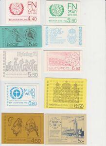 Sweden Sverige 1970-1972. 10 booklets different. MNH