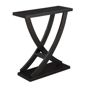 Convenience Concepts Newport Cross Step Console Table, Espresso - 121679ES
