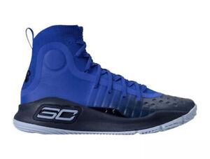 Under Armour Curry 4 Dub Nation Away Men's Sz 12 Blue/Black Shoes 1298306-401