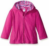 Gerber Baby Girls' Hooded Micro Fleece Jacket, Fuchsia, 3-6, Fuchsia, Size 0.0 o