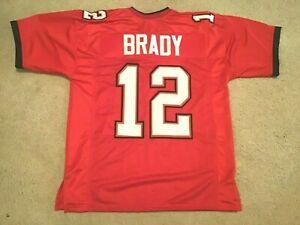 UNSIGNED CUSTOM Sewn Stitched Tom Brady Tampa Red Jersey - M, L, XL, 2XL