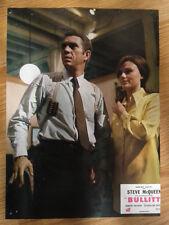 STEVE McQUEEN: BULLITT scarce vintage 1968 French lobby card #2 Jackie Bisset