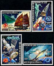 LAOS N°289/292** UPU Concorde, Espace, Bateau TB, 1975, Space, boat set MNH