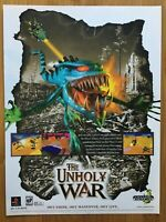 The Unholy War PS1 Playstation 1 1998 Vintage Poster Ad Art Print Official Promo