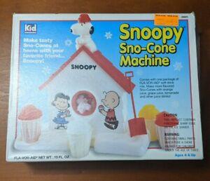 Snoopy Snow Cone Machine 1992 Kid Dimension