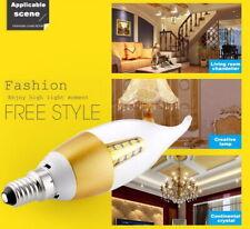 Ses ahorro de energía E14 LED Smd Bombilla De Vela Llama De La Cola luz ambiental Blanco Cálido 6W