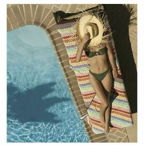 NEW Missoni Home Rufus Terry Beach Towel - Rachel Zoe Box of Style - Value $220