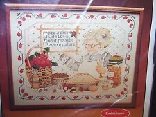 VINTAGE 1982 Current Inc Kitchen Sampler Spiced With Love Printed Embroidery Kit