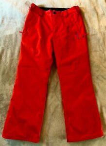 MINT! $22 BOYS/GIRLS XL VOLCOM EXPLORER SNOWBOARD / SKI PANTS, WORN ONCE! RED!