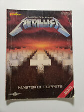 Metallica Master of Puppets Guitar Tablature Tab Transcriptions Cherry Lane