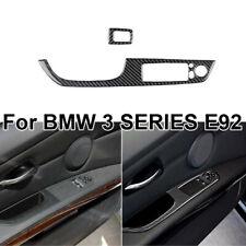 2* Carbon Fiber Power Window Switch Cover Trim Accessories For BMW 3 Series E92