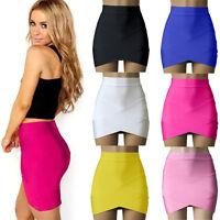 Sexy Women's Bodycon Bandage Stretch Hight Waist Formal Pencil Tight Mini Skirt