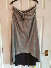 BNWT Simply Be Women's Strapless Knot Front High Low hem Dress Size 18