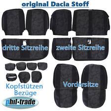 Sitzbezüge Dacia Lodgy Dokker 16tlg 7 Sitze 60/40 original Stoff von Laureate