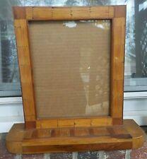 Vintage Tramp Art Folk Matchstick Wood Standing Dresser Frame 8.5 x 10.5 in fit