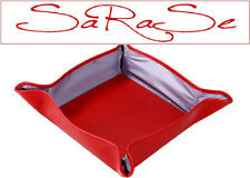 Nava Shelf for Key, Mobile Phone, Ballpoint Bowl Leather Red New