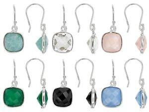 Multiple Color Sterling Silver Set Of 6 Dangle Earrings