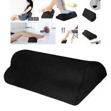 Foot Rest Cushion for Under Desk Ergonomic Pillow for Office Travel Plane Black
