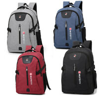 Anti-theft USB Charging Backpack Laptop Notebook Travel PC School Bag