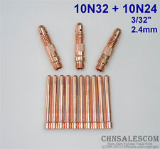 """13 pcs 10N32 Collet Body and 10N24 Collet Tig Welding WP-17/18/26 2.4mm 3/32"""""""
