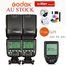 AU 2pcs Godox TT685O TTL HSS Flash + Xpro-O Trigger Kit For Olympus Panasonic