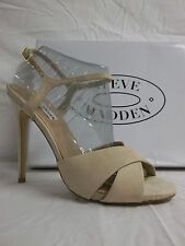 Steve Madden Size 10 M Make Mee Natural Leather Open Toe Heels New Womens Shoes
