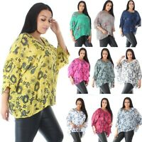 Cotton Aline Baggy Oversized Linen Cheese Cloth Top Tunic Batwing plus size 8 20