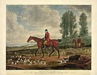 "Fox Hunting, Hounds, antique decor, Horses, by Richard Davis, 20""x16"" Art Print"