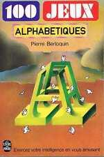 100 Jeux Alphabétiques   Pierre Berloquin livre de poche