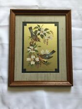 Birds On Floral Tree Vintage Picture Print Signed Homco Home Interior
