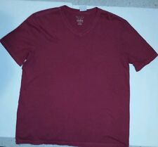 NEW MENS SONOMA LIFE+STYLE T-SHIRT WEEKEND V-NECK SIZE S RUSS 100% COTTON