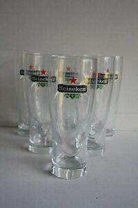 6 Heineken Biergläser 0,5 Liter