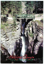 Maligne Canyon Jasper National Park Alberta Canada Large Size Postcard Cond:Vg