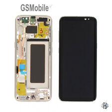 Original Display Pantalla LCD Touch Schermo Marco Samsung Galaxy S8 G950F Dorado
