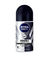 Nivea Men Invisible for Black and White Anti-Perspirant Roll-On 50ml