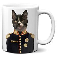 Personalised CAT Mug Funny KITTEN Gift Military Uniform Portrait Cup FDM15