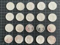 1 Roll ...Morgan Silver Dollars ...( 20 coin Roll ) 1878 - 1901  F-XF ...#1