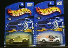 2 NEW HOT WHEELS '40 FORD TRUCK, 192 SILVER SAW BLADE, WHITE HARLEY DAVIDSON 156