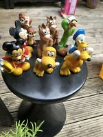 disney Character Figures 3 Inch Mickey Mouse Etc Bundle X 9